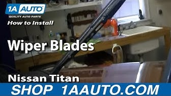 How To Replace Wiper Blades 04-13 Nissan Titan
