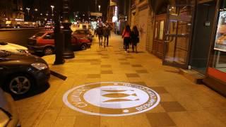 Проекция на асфальт - СУШИШОП - LED 40 OUTDOOR Санкт-Петербург Лиговский проспект