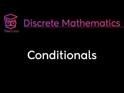 [Discrete Math 1] Conditionals