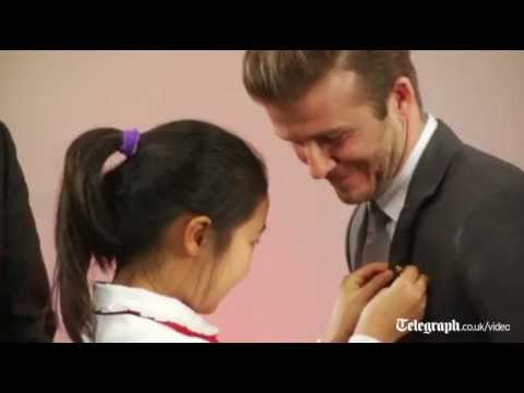 David Beckham woos Chinese football fans