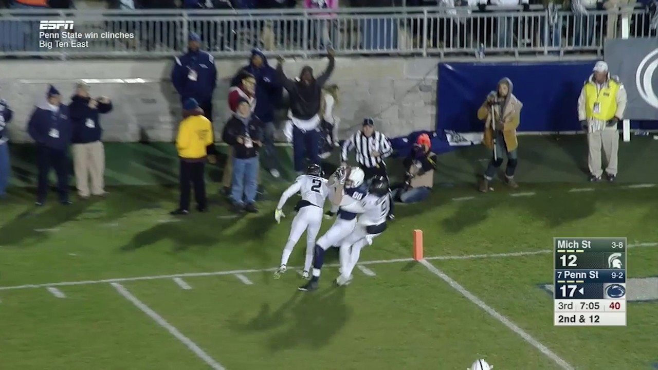 McSorley Finds Gesicki for TD vs. Michigan State - YouTube 182c393ca