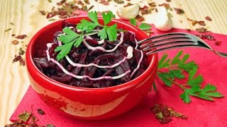Очень полезный салат из свеклы /  Salad from beet