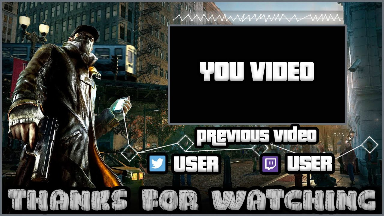 watch dogs outro template free sony vegas pro 11 12 13 youtube
