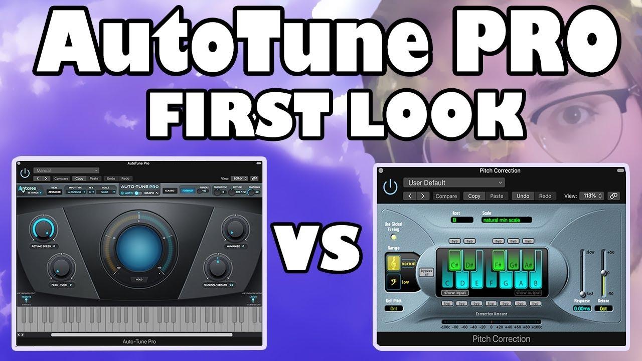Antares AutoTune Pro vs  Pitch Correction (Logic Pro X)