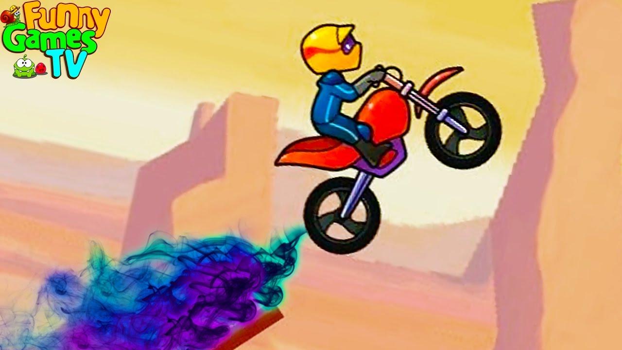 Прикольная гоночная игра Bike Race, мультик для мальчиков