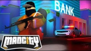 Roblox English/Mad city/The life of a cop #1