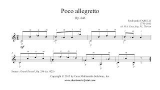 Carulli : Poco allegretto, Op. 246