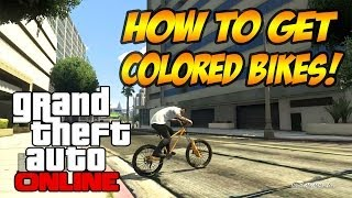 GTA 5 Online - How To Paint Your Bike ANY Color! (GTA V Tips & Tricks)