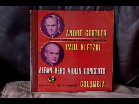 Alan Berg Violin Concerto-Andre Gertler