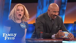 Kellie Pickler needs a BIGGER BUZZER! | Celebrity Family Feud | OUTTAKE