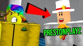 PRESTONPLAYZ IS TARGETING ME! *NEW ROBLOX MURDER GAME!*