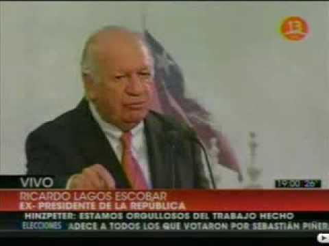 Discurso de Ex Presidente Ricardo Lagos luego de derrota de Frei en Chile