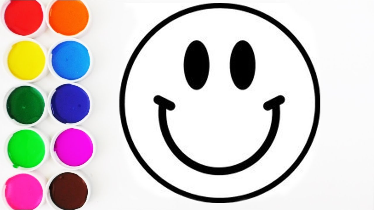Como Dibujar Y Colorear Emoji Feliz De Arco Iris Aprende Los Colores Learn Colors Funkeep