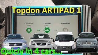 Topdon Artipad I, four cars in 40 minutes... brief walkthrough...