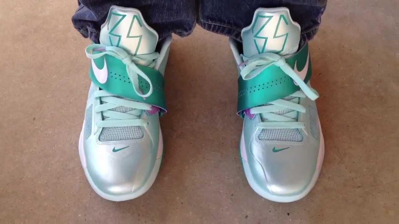 "Nike Zoom KD IV 4 ""Easter"" ""Mint Candy"" on feet - YouTubeKd 4 On Feet"
