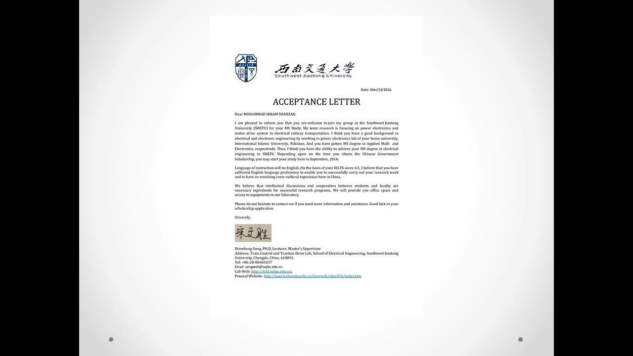 China scholarshipsacceptance letterpart 7 youtube china scholarshipsacceptance letterpart 7 altavistaventures Images