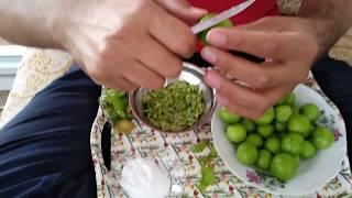 Erik Meyvesi Nasıl Yenir   Tuzlu Yeşil Erik   Soyulmuş Erik   Orjinal Fikirler
