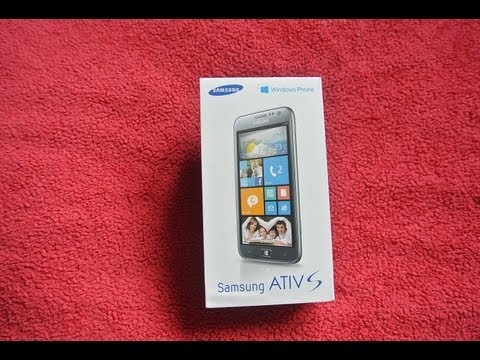 Samsung Ativ s Unboxing