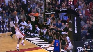 Repeat youtube video Dwyane Wade LeBron James dunk party vs New York Knicks (complete highlights) 01.27.2012