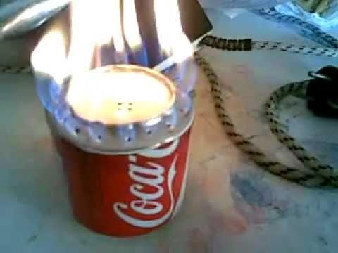 Como hacer fogon de cocina con dos latas de refresco  YouTube