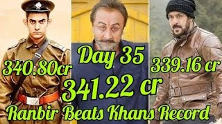 Sanju Box Office Collection Day 35 l Becomes 3rd Highest Grosser In Bollywood By Beating PK & TZH