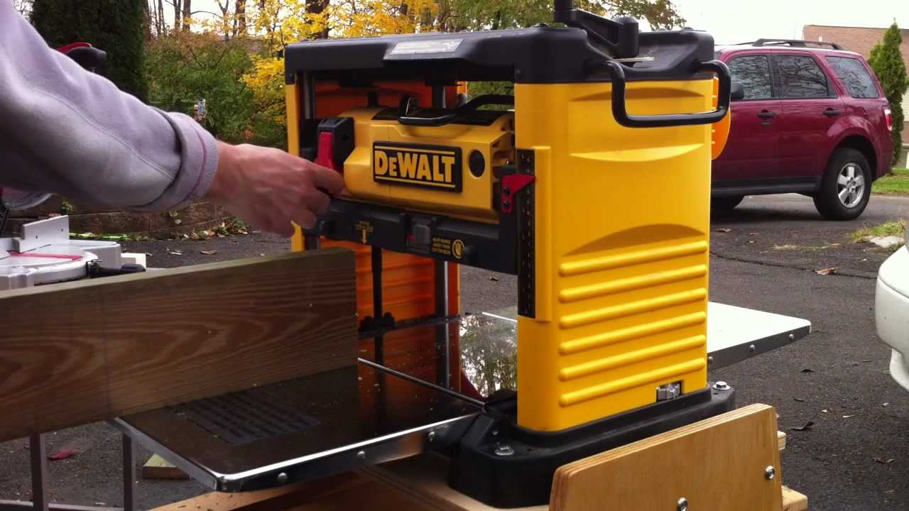 Dewalt Portable Thickness Planer Youtube