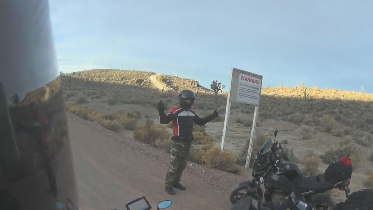 Area 51 Line Crossed By Bikers Findingufo Youtube