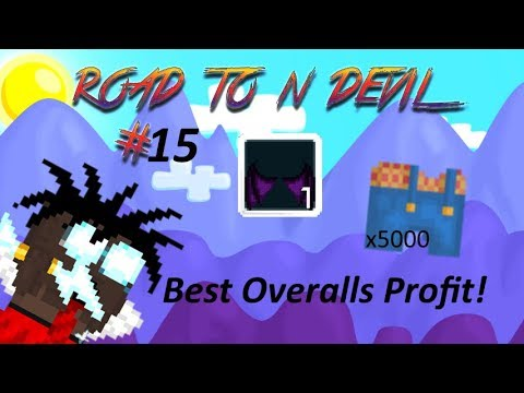 BEST OVERALLS PROFIT EVER! -Road To Nightmare Devil #15 - Growtopia