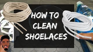 How to clean shoelaces ! Quick & Easy Way !