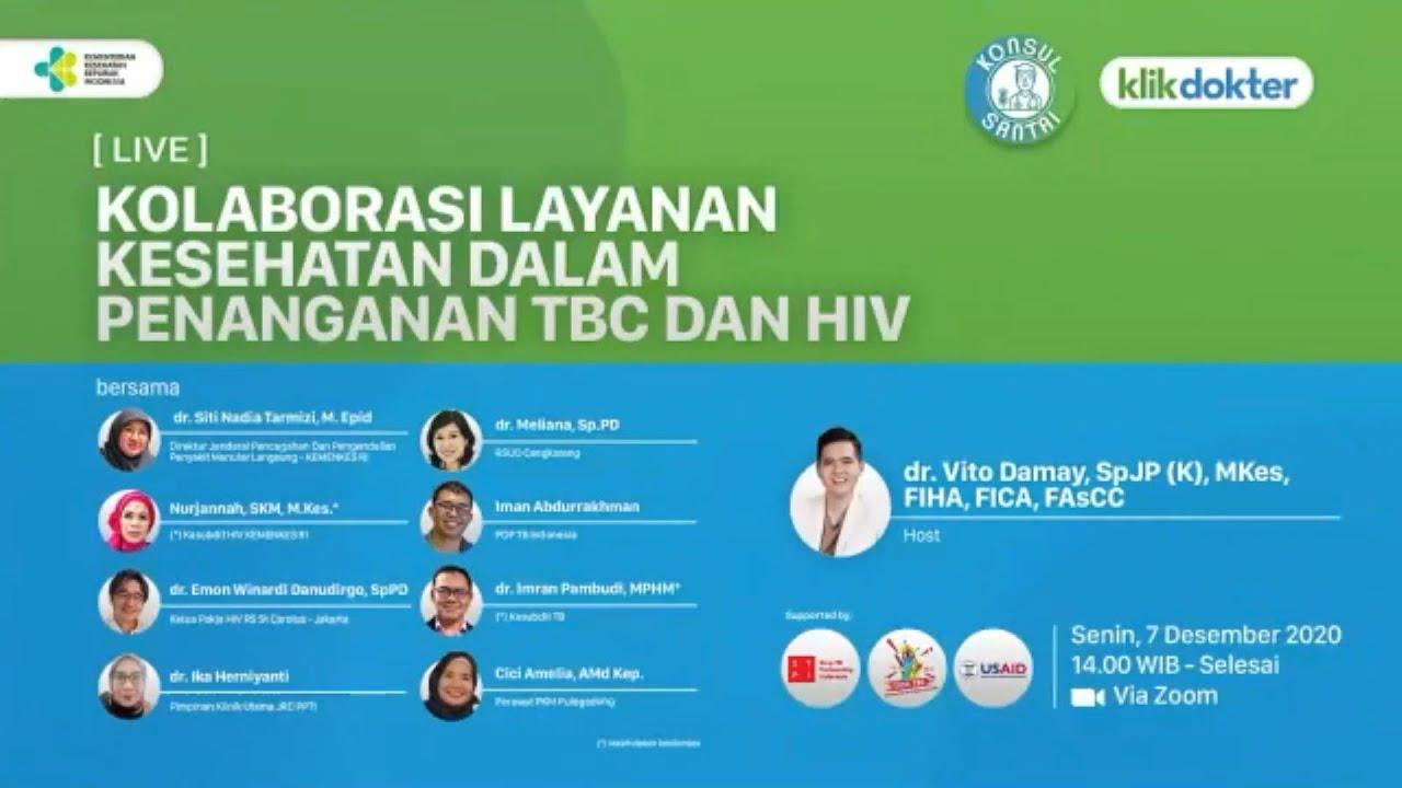 Webinar Kolaborasi Layanan Kesehatan dalam Penanganan TBC dan HIV bersama Klikdokter