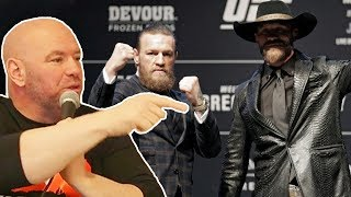 Barstool Sports Interviews Dana White Before McGregor vs. Cowboy