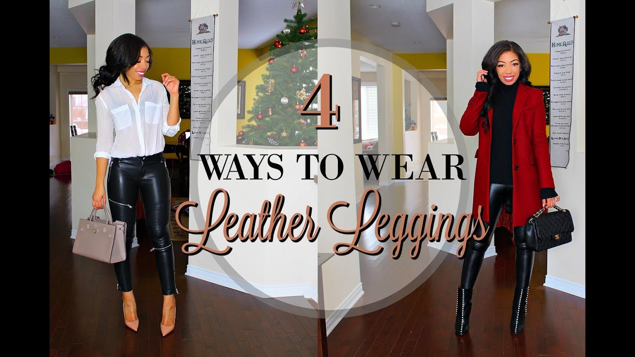 [VIDEO] - HOW TO STYLE LEATHER LEGGINGS | 4 WAYS to WEAR Leather Pants - LOOKBOOK + Outfit Ideas 9