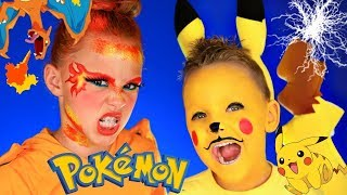 Pokemon Pikachu and Charizard Makeup Tutorial