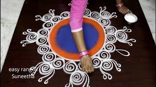 New year 2019 rangoli and kolam designs - Creative New year muggulu