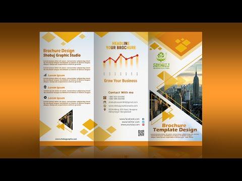 Tri Fold Brochure Design - In Photoshop Cc Tutorial 2020