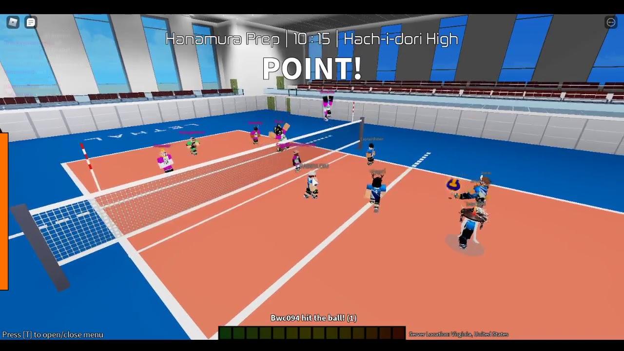 Hachidori High Vs Hanamura Prep Roblox Volleyball Academy Nationals Final Youtube
