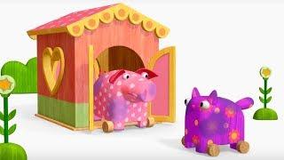 Деревяшки - День и ночь+ Праздник чистоты - развивающие мультфильмы для самых маленьких 0-4 HD