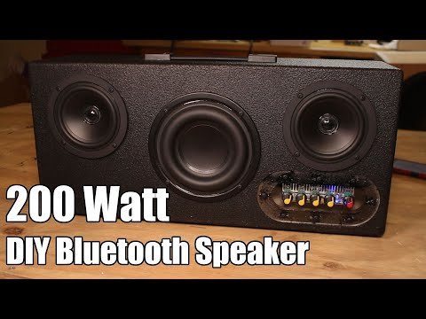 DIY Executive 200 Watt Portable Bluetooth Speaker Kit Quick Build