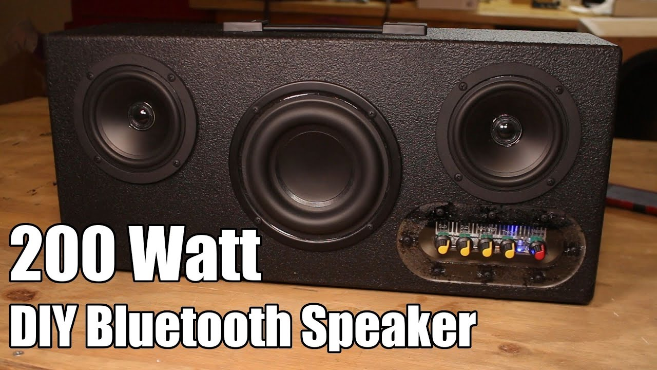 DIY Executive 200 Watt Portable Bluetooth Speaker Kit Quick Build