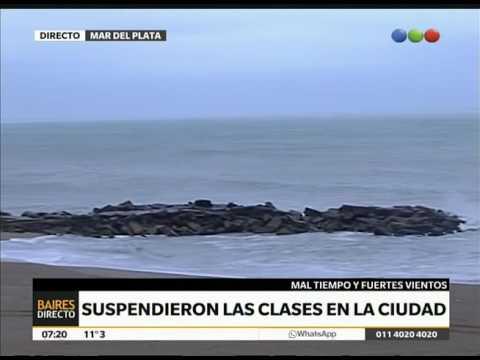 Suspendieron las clases en Mar del Plata – Telefe Noticias