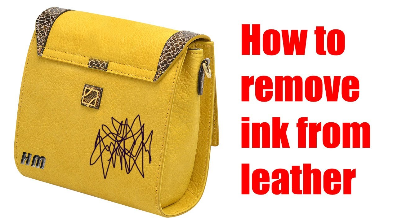 how to remove ink from leather youtube. Black Bedroom Furniture Sets. Home Design Ideas