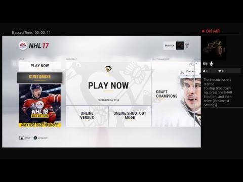 Live nhl Ottawa vs new York rangers ps4 gameplay
