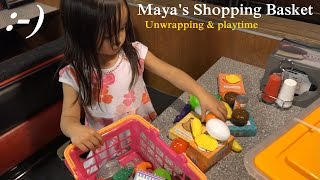 Cooking & Kitchen Toys for Girls: Maya's NEW Shopping Basket Playtime :-)