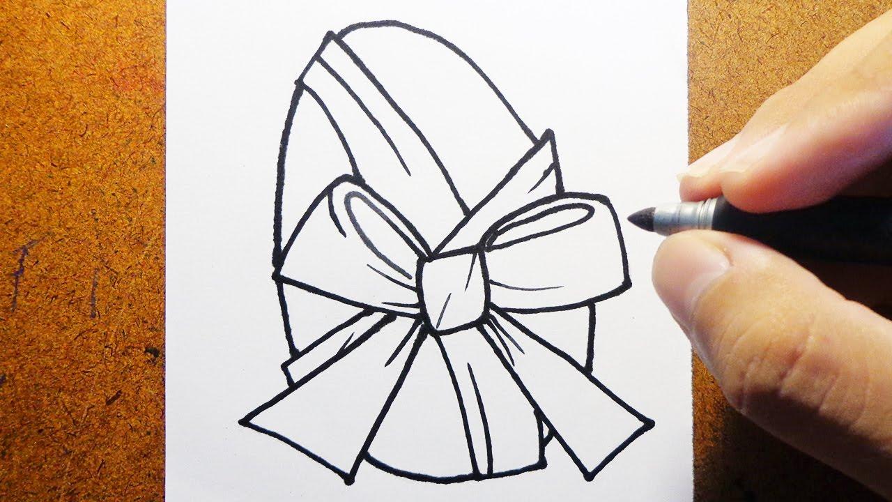 como desenhar ovo de páscoa ovo de chocolate youtube