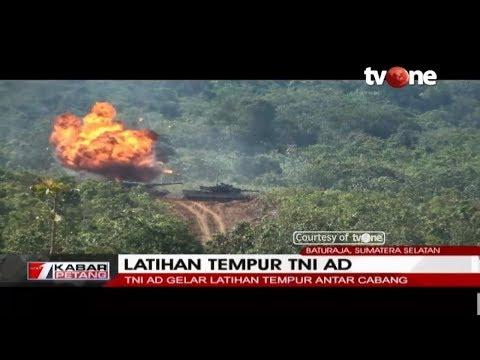 KEREN!! Begini Latihan Tempur TNI AD di Baturaja, Sumsel