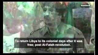 Libya  Libyan Leader Muammar Qaddafi Letter on Sep. 12th, 2011, English subtitles