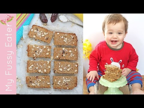Sugar Free Oat Bars For Baby Weaning | Baby Led Weaning Recipe