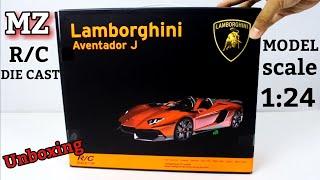 รถเหล็กบังคับ MZ R/C Die Cast Model lamborghini aventador j Scale 1:24