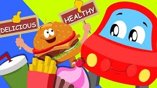 We Are Called The Junk Food | Little Red Car Cartoons | Nursery Rhymes For Babies by Kids Channel