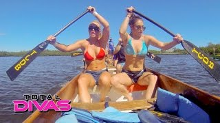 Natalya and Mandy Rose's families compete in a dragon boat race: Total Divas, March 29, 2016